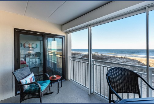 Furnished Oceanfront Balcony Area